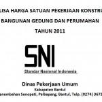 Download Analisa Harga Satuan SNI 2011