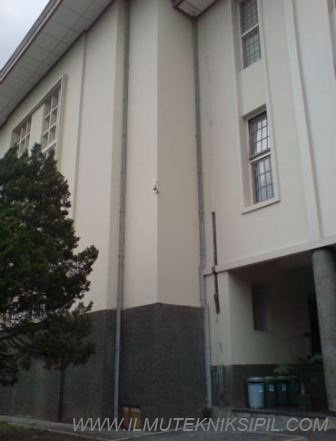 Saluran air yang berperan mengalirkan air yang ada di atas gedung ke bawah