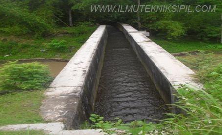 Talang yang dipakai untuk mengalirkan air irigasi lewat diatas saluran lainnya