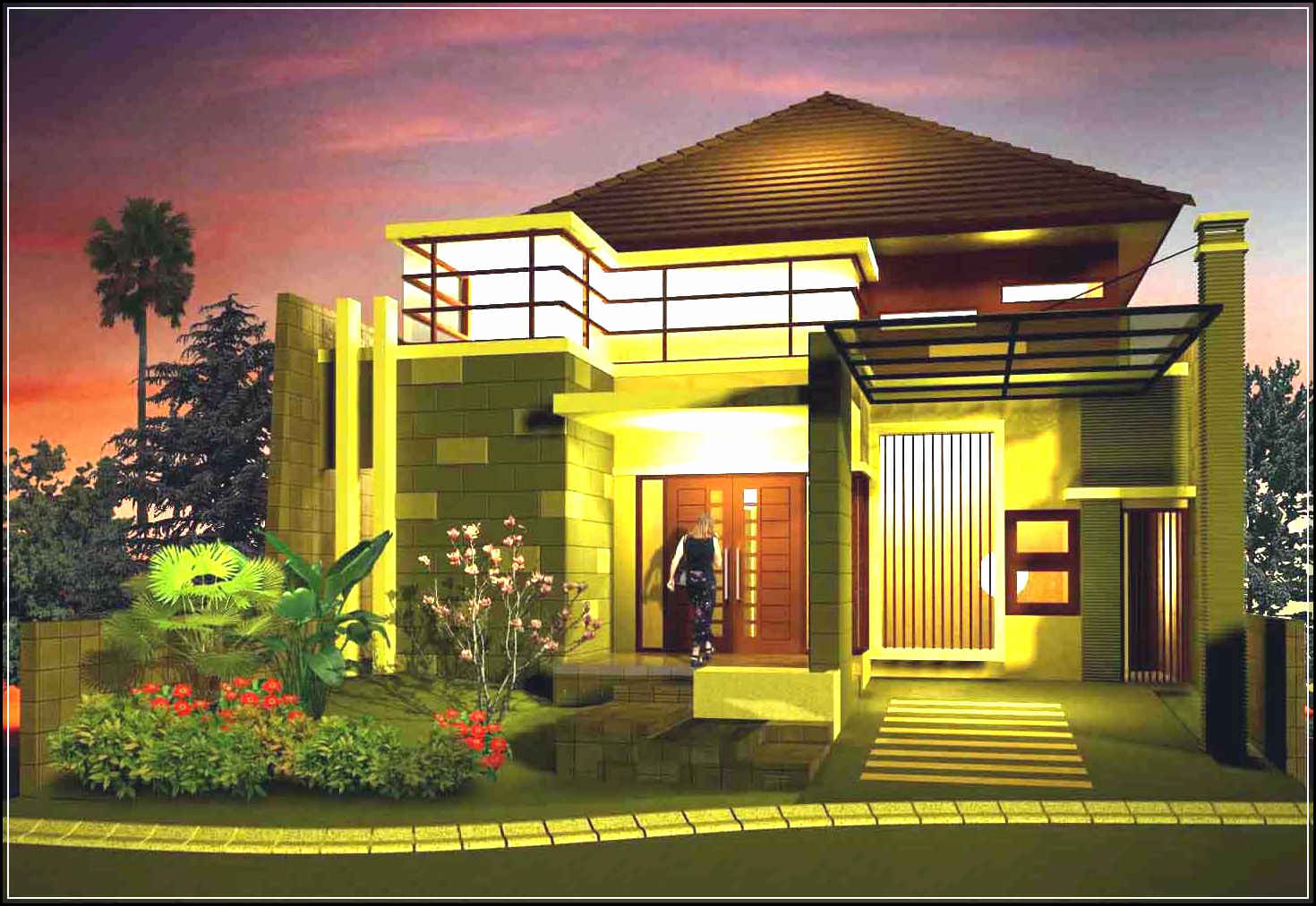 4800 Desain Taman Depan Rumah Mewah Minimalis Terbaik