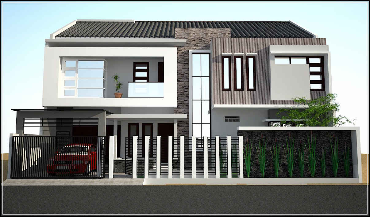 Nuansa klasik dalam desain rumah minimalis modern terbaru for Design rumah mimimalis modern
