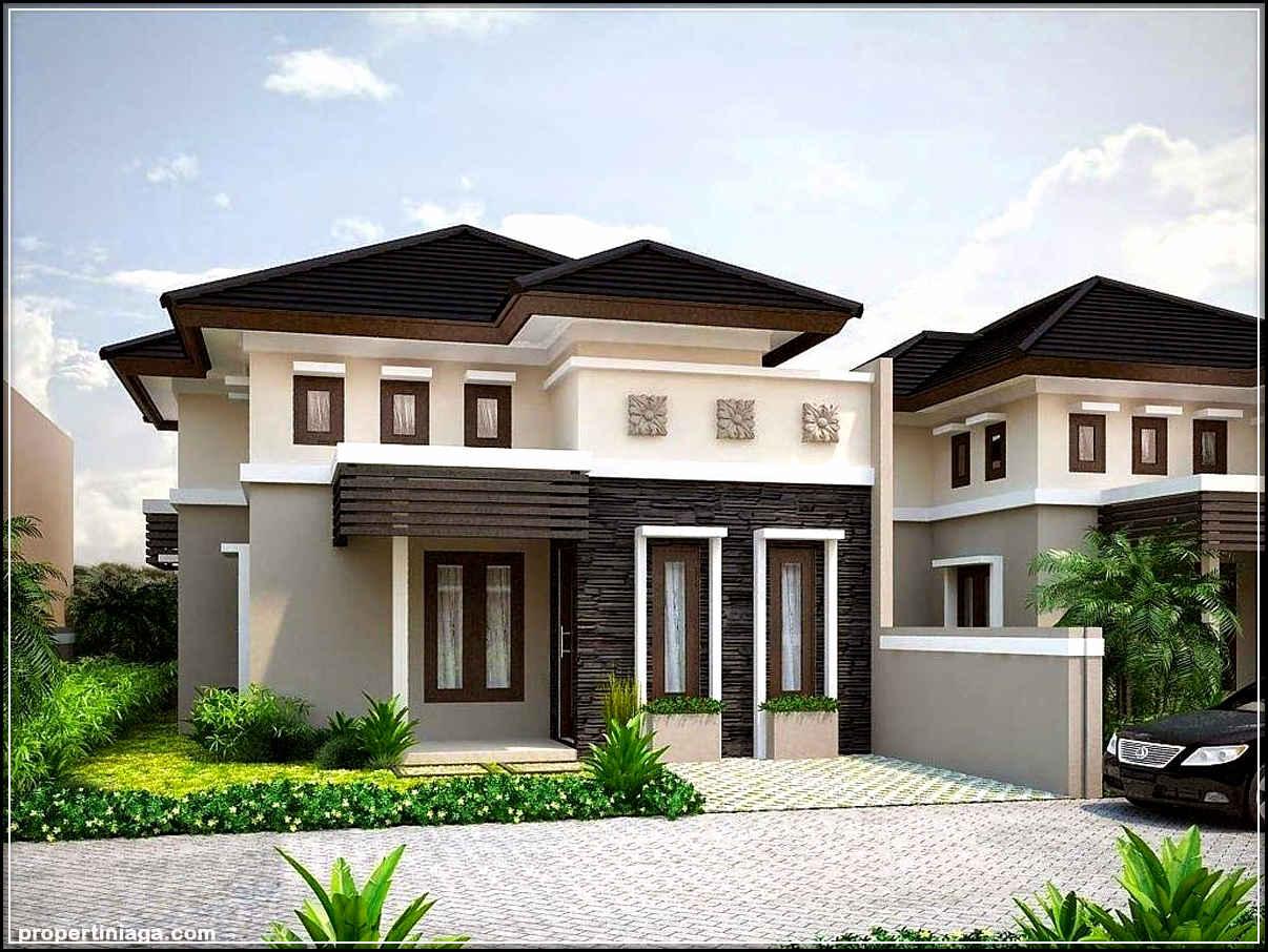Desain Rumah Modern Minimalis 1 Lantai Gaya Tropis ...