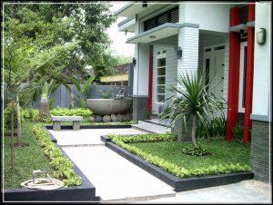 taman minimalis depan rumah 39
