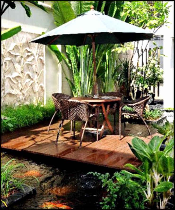 taman belakang rumah sederhana
